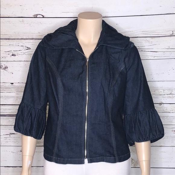 Venezia Jackets & Blazers - Venezia Lane Bryant 18 Ruffle Denim Jean Jacket